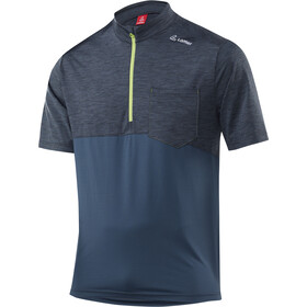 Löffler Rainbow Fietsshirt korte mouwen Heren blauw/petrol